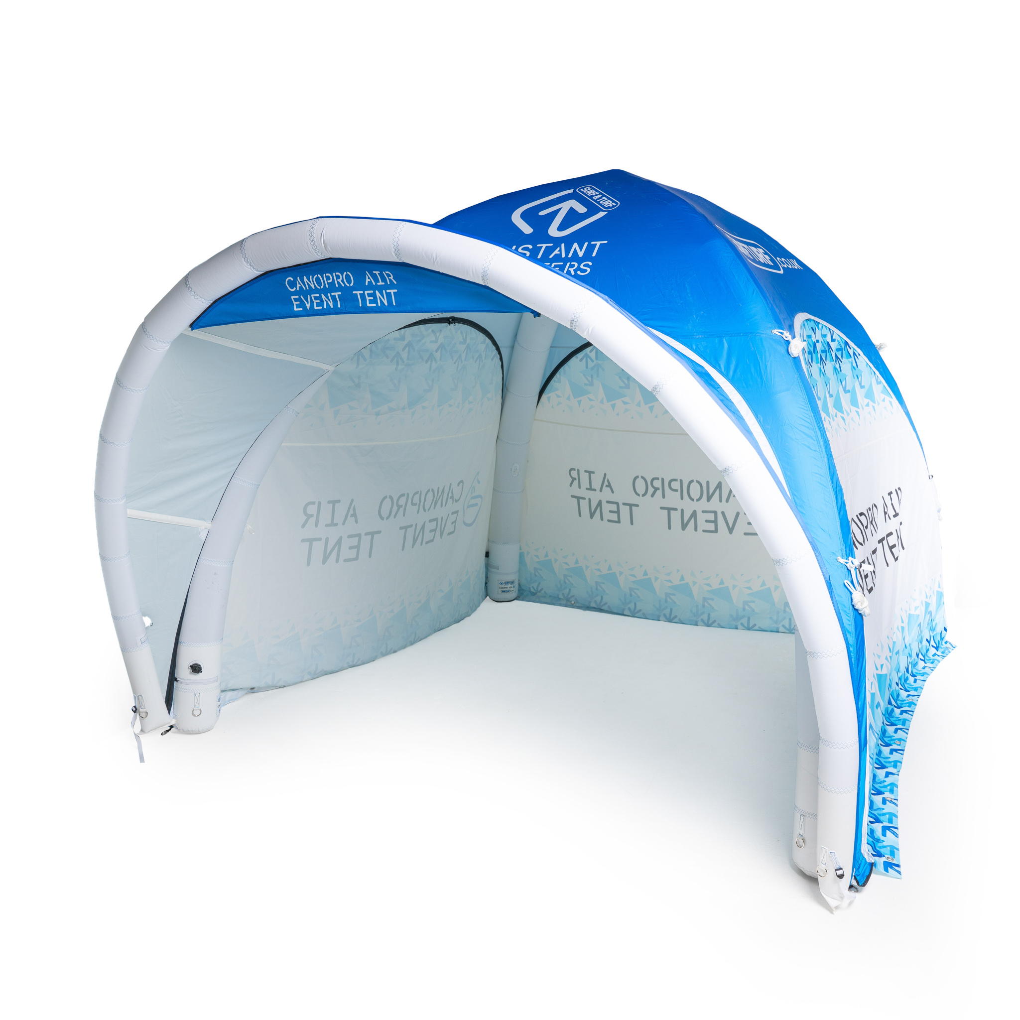 Hassle free instant advertising shelters