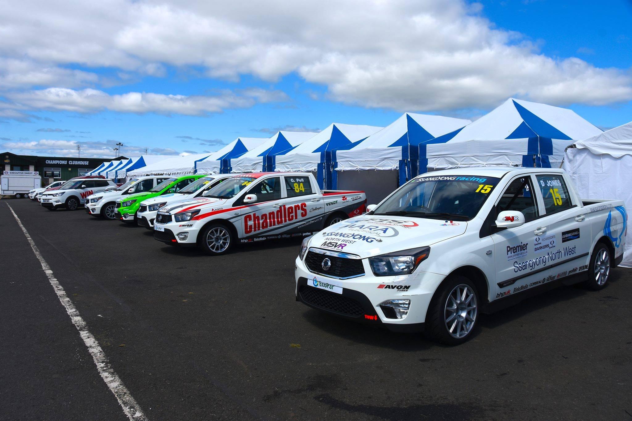Branded tents for motorsport events