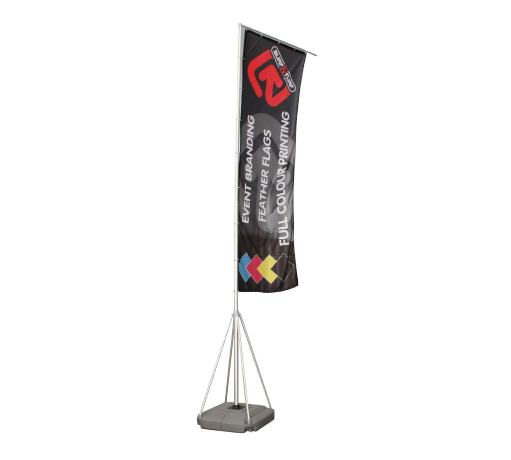 Giant 5m Custom Outdoor Flags With Base